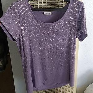 Lavender metal studded tshirt